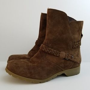 EUC Brown Teva Ankle Boots Size 7.5